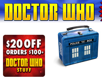 $20 off Doctor Who Orders of $100+ w/code: DOCTORFINALE