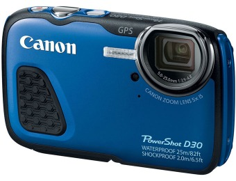 $80 off Canon PowerShot D-30 12.1 MP Waterproof Digital Camera