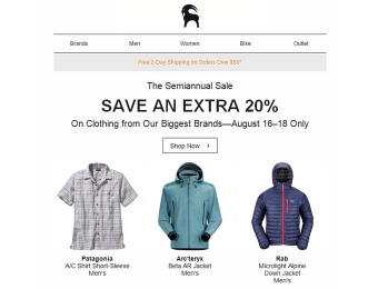 Save an Extra 20% off Clothing at Backcountry.com