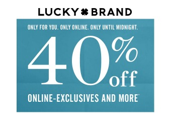 Lucky Brand Sale - Save 40% off Online Exclusives & More