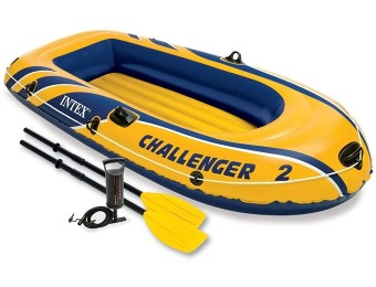 40% off Intex Challenger 2, 2-Person Inflatable Boat Set
