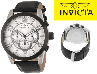 87% off Invicta 13636 Specialty Chronograph Men's Leather Watch