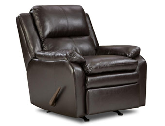 $370 off Simmons Baron Leather Rocker Recliner
