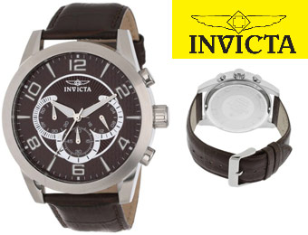 87% off Invicta 13634 Specialty Chronograph Men's Leather Watch