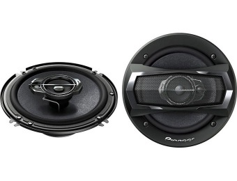 "$64 off Pioneer TS-A1675R 6-1/2"" 3-Way TS Series Coaxial Car Speakers"