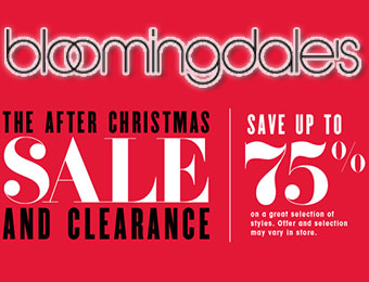 Up to 75% Off - Bloomingdale's After Christmas Sale