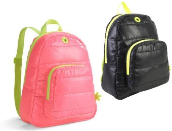 80% off Puffy Mini Backpack, 4 color choices