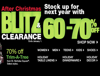 60% - 70% off After Christmas Blitz Clearance