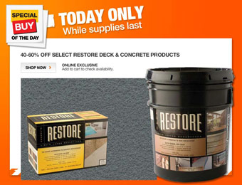40-60% off Select Restore Deck & Concrete Products