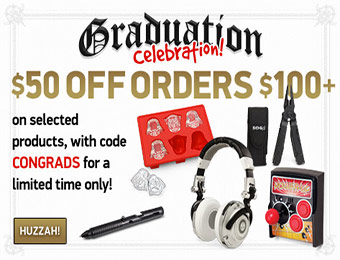 $50 off $100 purchase of select items w/ promo code CONGRADS