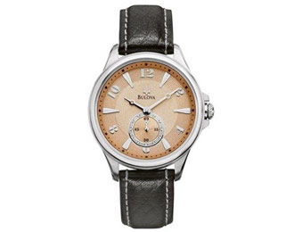 75% off Bulova 96L135 Adventurer Champagne Dial Leather Watch