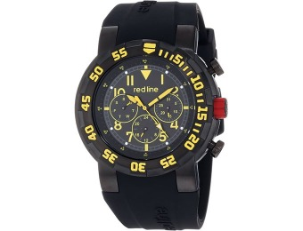 96% off Red Line Men's RL-50027-BB-01YL Black Silicone Watch