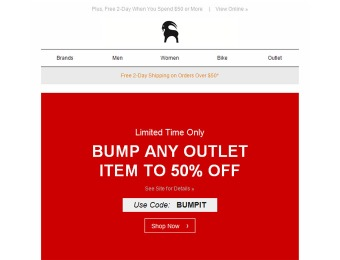 Take 50% off Any Item at Backcountry Outlet