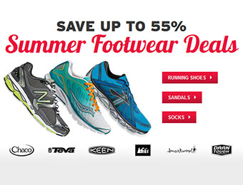 Save up to 55% - REI Summer Footwear Deals