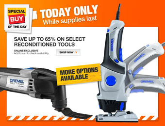 Up to 65% off Select Reconditioned Tools