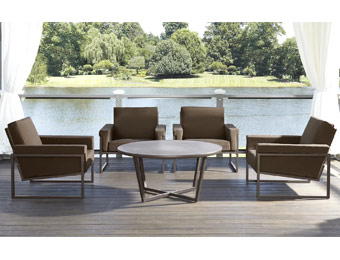 $660 off Grand Resort Batten 5pc Chat Patio Furniture Set