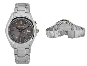 70% off Seiko SKA527 Kinetic Movement Stainless Steel Watch