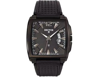 $130 off Hector 665228 Men's Leather Date Watch