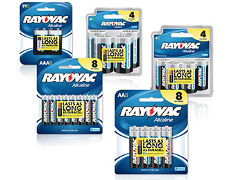Deal: Rayovac 26-Ct Battery Combo Pack (AAA, AA, C, D & 9V)