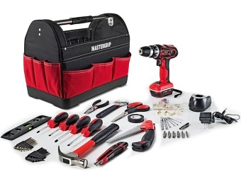 $90 off Mastergrip 44 pc Tool Set with Lithium Ion Cordless Drill