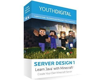 $130 off Server Design 1: Learn to Code in Java with Minecraft