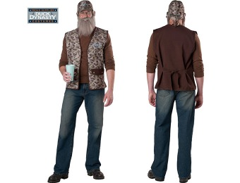 95% off Duck Dynasty: Uncle Si Adult Costume