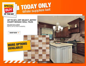 Up to 50% off Select Jeffry Court Mosaic Wall Tiles