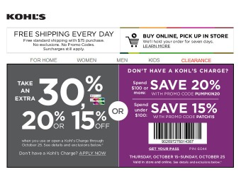 Save an Extra 20% off Your Purchase of $100+ at Kohls.com
