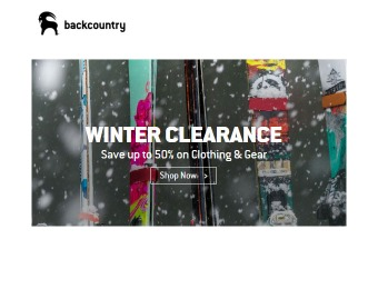 Backcountry Outlet Winter Clearance Sale - 50% off