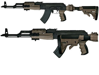Advanced Technology AK-47 Strike Force Folding Stock, 2 Colors
