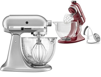 $220 off KitchenAid 5-Qt Tilt-Head Stand Mixer, Metallic Chrome