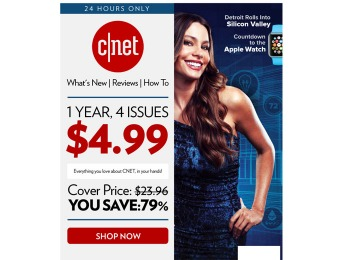 $19 off CNET Magazine Subscription, $4.99 / 4 Issues