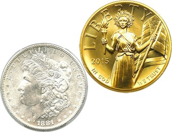 20% off Professionally-Graded Gold and Silver Collectible Coins