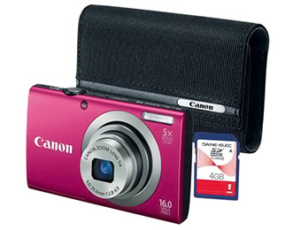 56% off Canon A2300 Digital Camera Bundle with Case
