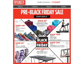 Sports Authority Pre-Black Friday Deals- Huge Savings