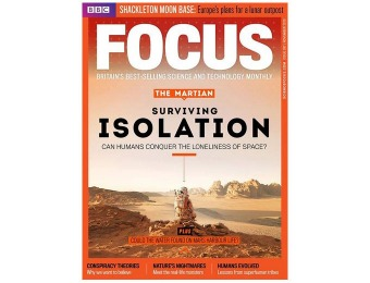 $138 off BBC Focus Magazine Subscription, 13 Issues / $21.99