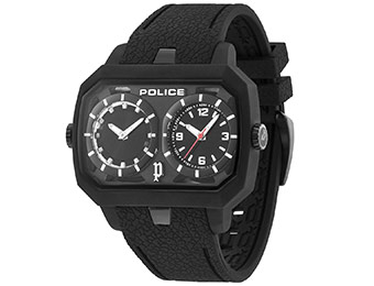 Extra 79% off Police Hydra PL.13076JPB/02 Dual-Time Watch