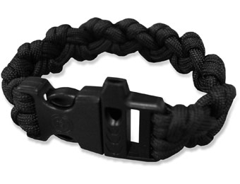 52% off Survival Para 550 Paracord Whistle Bracelet, 5 Colors