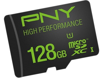 70% off PNY High Performance 128GB MicroSDXC Memory Card