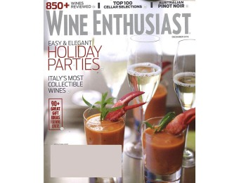 $65 off Wine Enthusiast Magazine, 13 Issues / $11.99