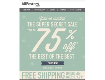 Up to 75% off Best Sellers Sale Allposters.com