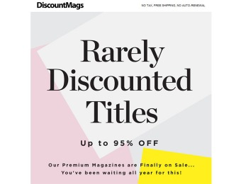 DiscountMags 24-Hour Magazine Sale - Up to 95% off