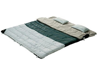 50% off Cabela's Warm-Weather Adam & Eve Sleeping Bags