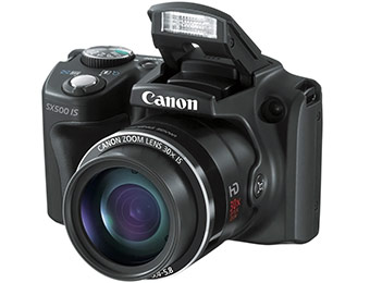 $101 off Canon PowerShot SX500 IS 16.0 MP Digital Camera