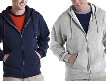 38% off Fruit of the Loom Men's Zip-Front Hoodie (4 colors)