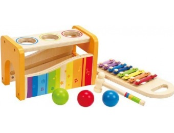 34% off Hape - Pound & Tap Bench with Slide Out Xylophone