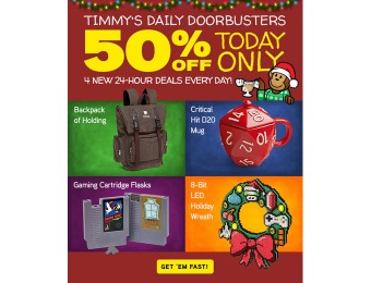 Daily Doorbusters at ThinkGeek - 50% off