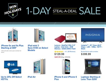 Best Buy 1-Day Steal-A-Deal Sale: Steal early deals now!