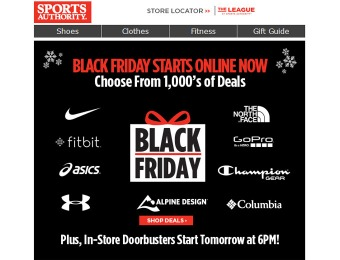 Sports Authority Black Friday Deals Start Now