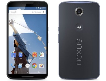 $420 off Motorola Nexus 6 Unlocked Cellphone, 32GB, Midnight Blue